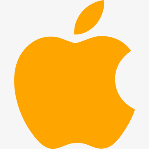 Orange Apple Logo, Logo Clipart, Orange Clipart, Apple Icon