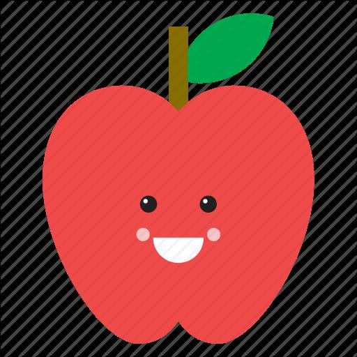 Apple, Emoji, Emoticon, Face, Food, Fruit, Red Icon