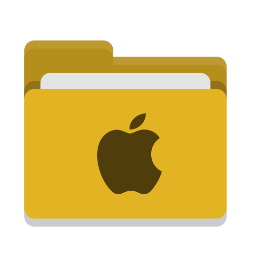 Folder, Yellow, Apple Icon Free Of Papirus Places