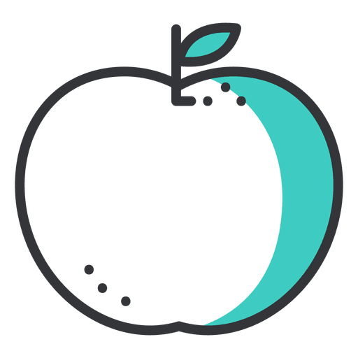 Apple Stroke Icon With Green Shadow
