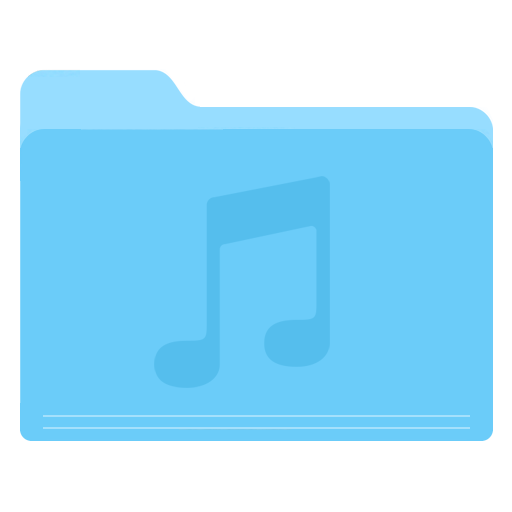 Folder Music Icon Yosemite Flat Iconset Dtafalonso