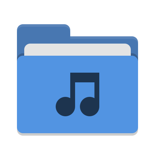 Folder Blue Music Icon Papirus Places Iconset Papirus