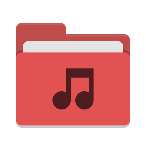 Folder Red Music Icon Papirus Places Iconset Papirus