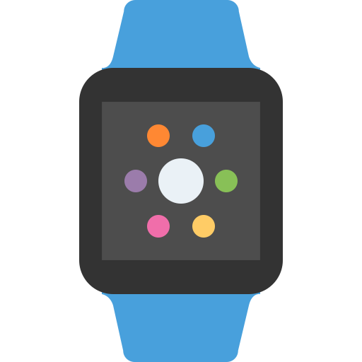 Apple Watch Blue Icon Flat Free Sample Iconset Squid Ink