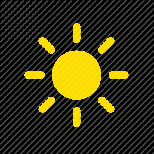 Apple, Clear, Sun, Sunlight, Sunny, Weather Icon