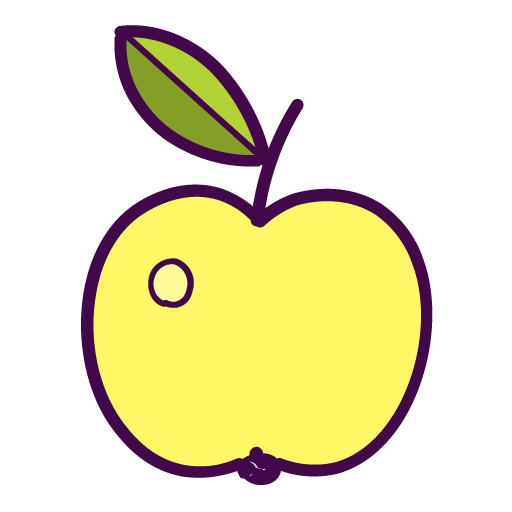Apple, Fruit Icon Free Of Autumn Hand Drawn