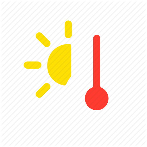 Apple, Heat, Hot, Overheating, Temperature, Thermometer, Weather Icon