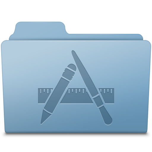 Applications Folder Blue Icon Smooth Leopard Iconset Mcdo Design