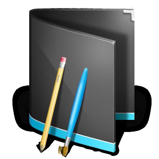 Applications Folder Black Icon