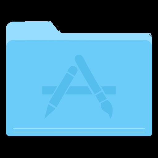 Folder Apps Icon Yosemite Flat Iconset Dtafalonso