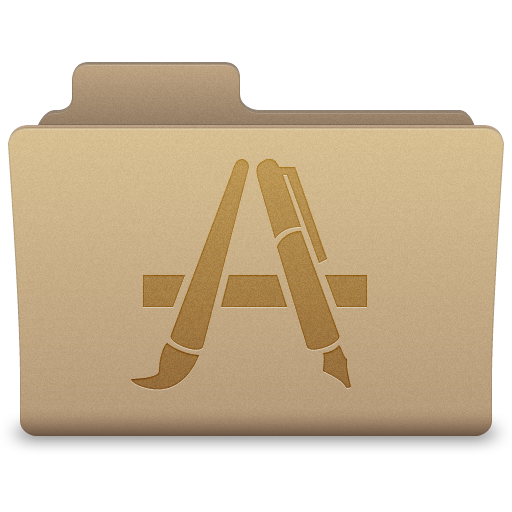 Yellow Applications Folder Icon