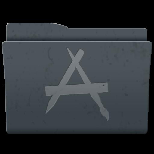 Applications, Folder Icon Free Of Leox Graphite Icons