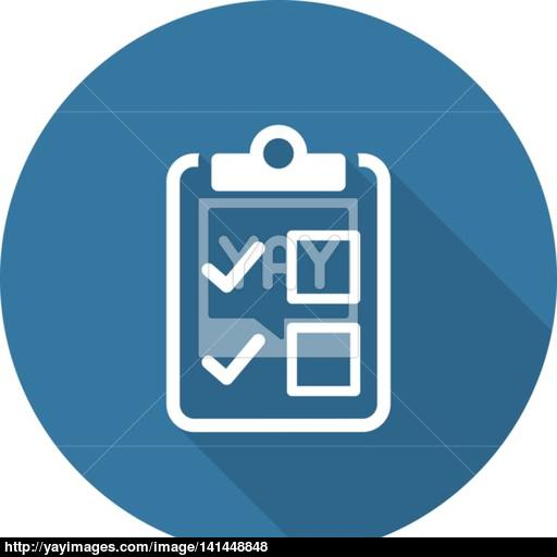 Appointment Request And Medical Services Icon Flat Design Long