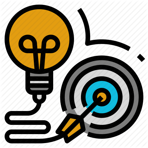 Approach, Business, Content, Goal, Idea, Marketing, Target Icon