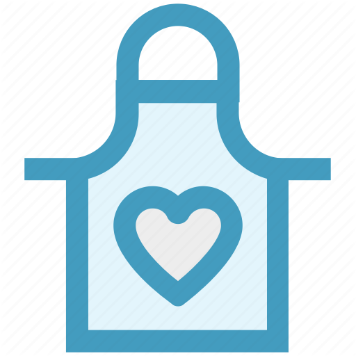 Apron, Heart, Kitchen, Protection, Tools, Utensils Icon