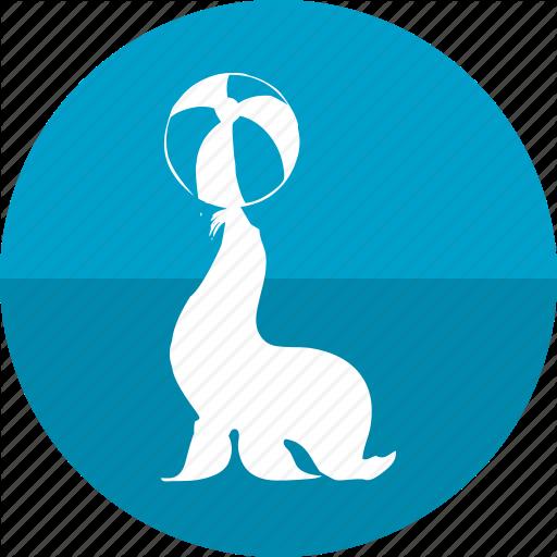 Aqua, Ball, Circus, Park, Planet, Seal, Seal Show Icon
