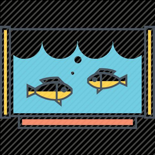 Aqua, Aquarium, Fish, Tank, Water Icon