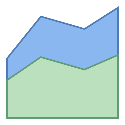 Area, Chart, Statistics, Graphics, Business, Increase Icon Free
