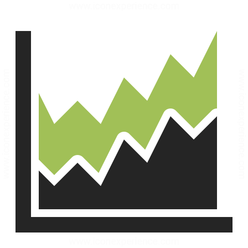 Chart Area Icon Iconexperience