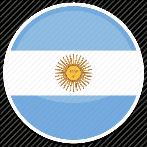 Ar, Argentina, Circle, Flag, Flags, Round Icon
