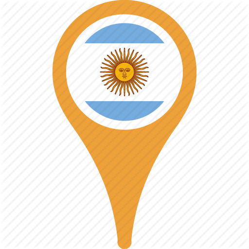 Argentina, Country, Flag, Map, Pn
