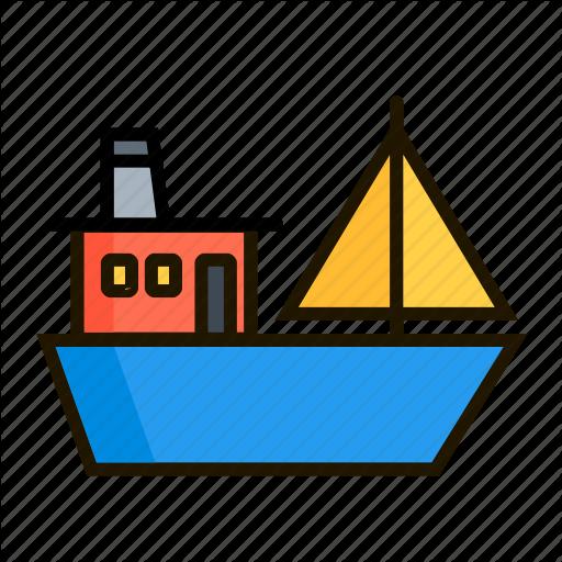 Ark, Barge, Fishing, Hoy, Pleasure Boat, Scow, Wherry Icon