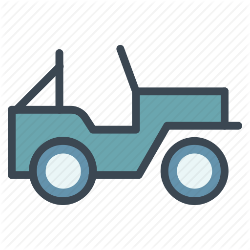 Army, Jeep, Military, Vehicle Icon