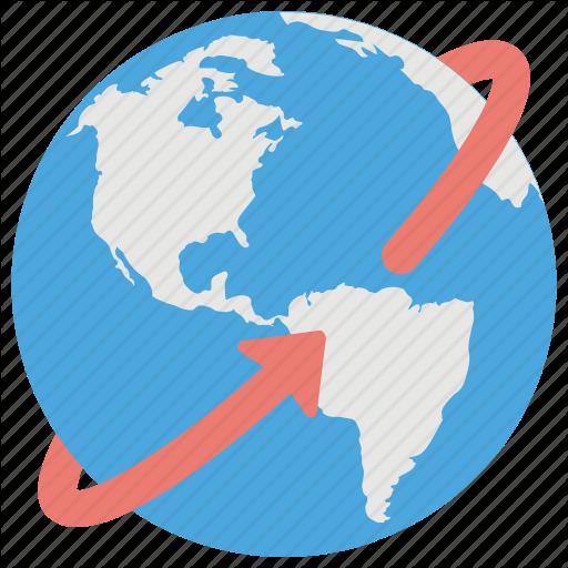 Around The World, Global, International, Universal, Worldwide Icon