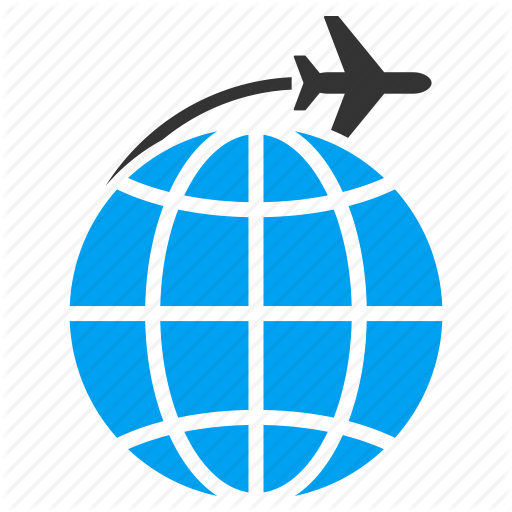 Plane Flying Around World Png Transparent Images