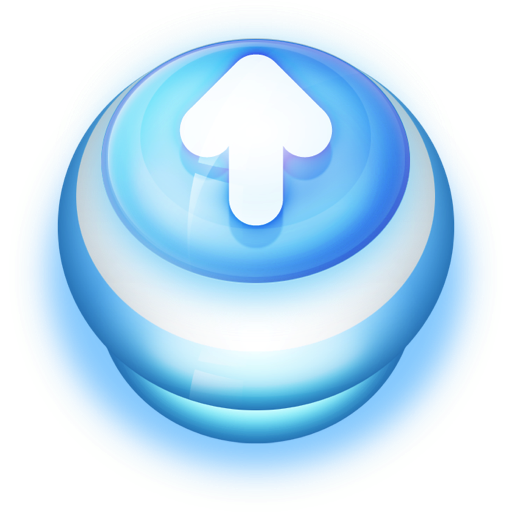 Button Blue Arrow Up Icon Pushdown Buttons Iconset Wackypixel