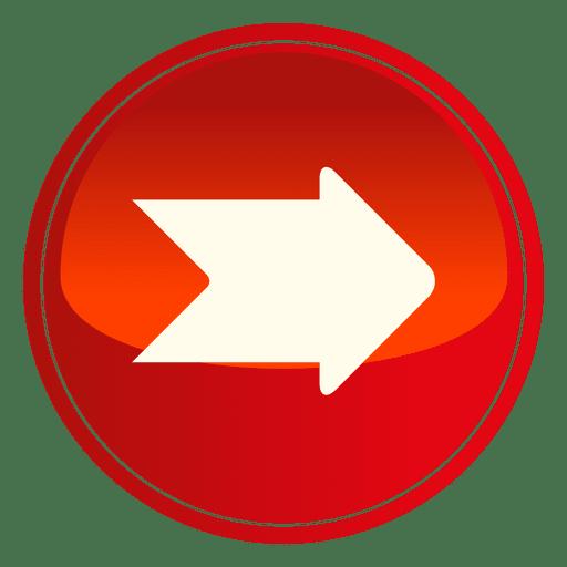 Red Circle Arrow Button