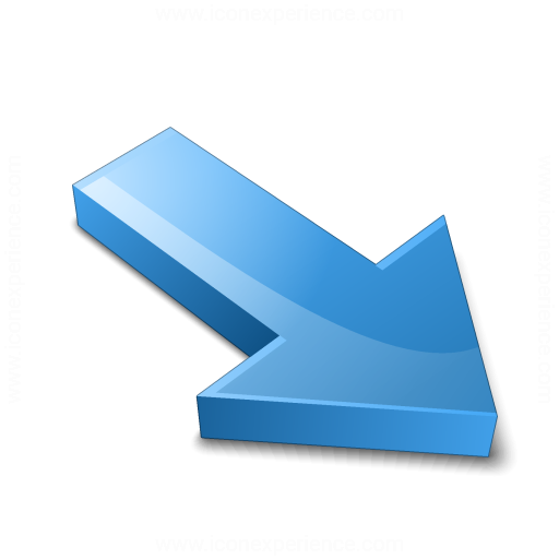 Iconexperience V Collection Arrow Down Right Blue Icon