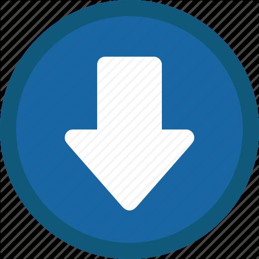 Arrow, Blue, Circle, Down, Next Icon