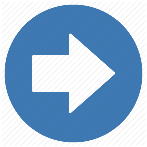 Arrow, Blue, Direction, Gps, Location, Navigation, Right Icon