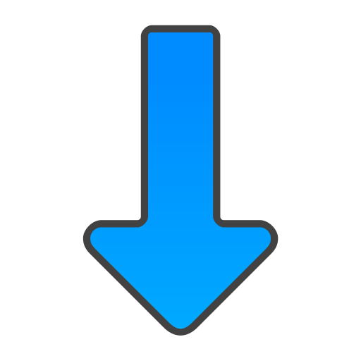 Blue Arrow Down Icon Png