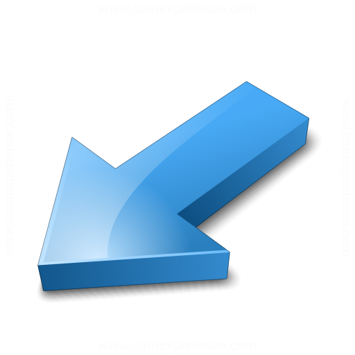 Iconexperience V Collection Arrow Down Left Blue Icon