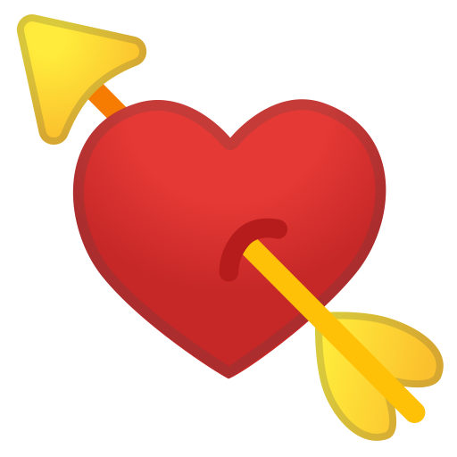 Heart With Arrow Icon Noto Emoji People Family Love Iconset
