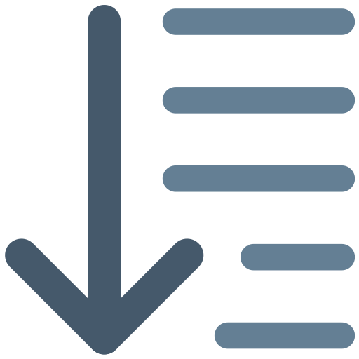 Align, Arrow, Center, Down, Office, Text, Alignment Icon Free