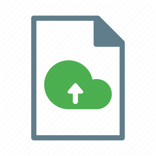 Arrow, Cloud, Document, File, Text, Upload Icon