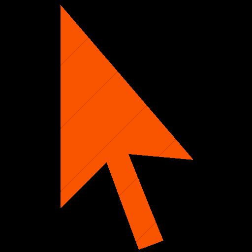 Simple Orange Classica Mouse Pointer Icon