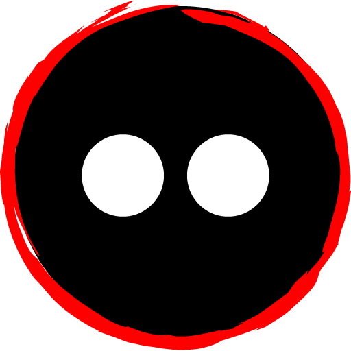 Free Red Social Media Art Brush Style Icon Designed