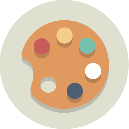 Art, Painting, Palette Icon