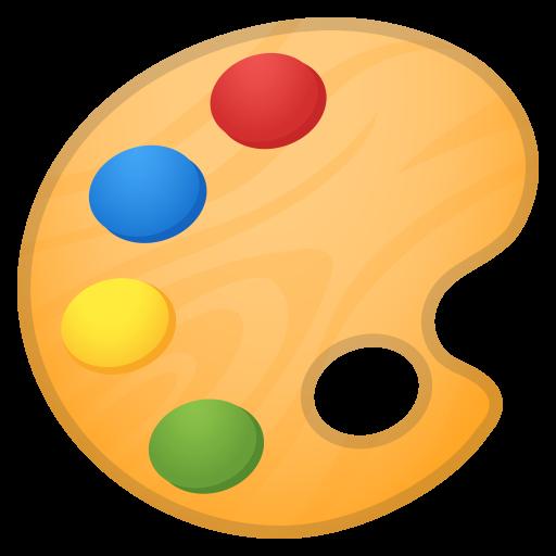 Artist Palette Icon Noto Emoji Activities Iconset Google