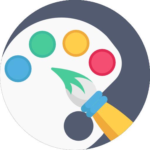 Paint Palette Icon Creative Process Freepik