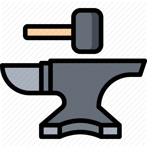 Anvil, Artisan, Blacksmith, Craft, Hammer, Handmade, Workshop Icon