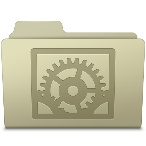 System Preferences Folder Ash Icon Smooth Leopard Iconset Mcdo