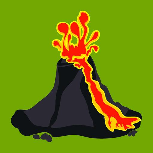Volcanoes Map, Alerts Ash