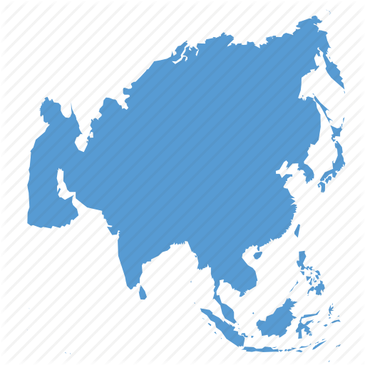 Asia, Continent, Location, Map, Navigation Icon