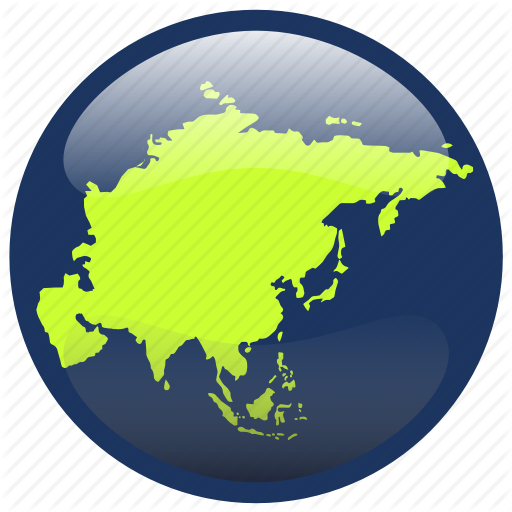 Asia, Continent, Map Icon