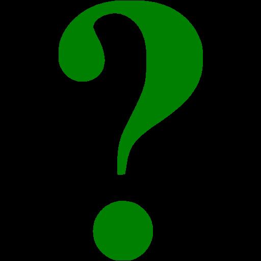 Green Question Mark Icon